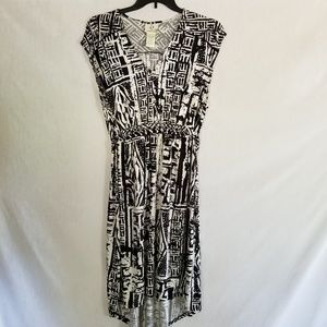 ICE Black White Sleeveless Dress Women's Size 2X